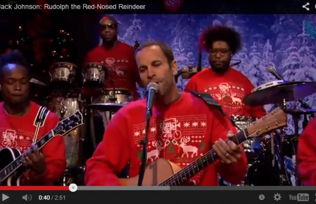 Jack Johnson dons a Christmas sweater for a good cause!
