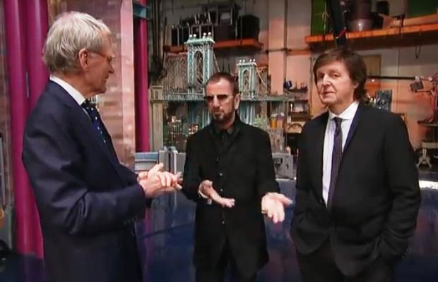 Paul and Ringo Reminisce with David Letterman